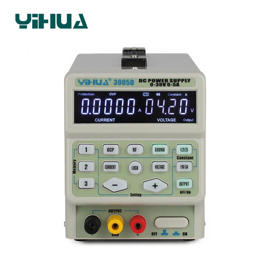 YIHUA 3005D DC Питание Регулируемый цифровой программы Управление 30 В 5A Напряжение регуляторы переключения лаборатория DC Мощность поставки