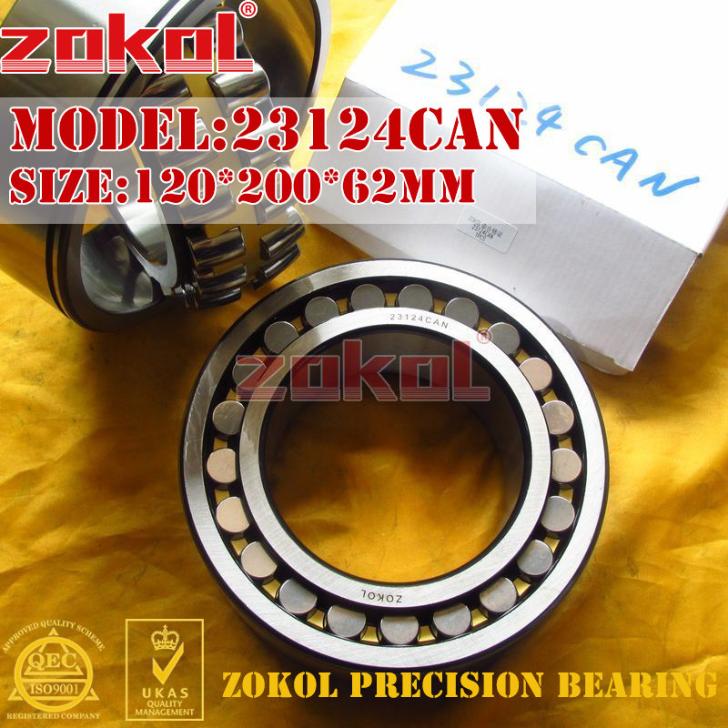 ZOKOL bearing 23124CAN 23124CA-N 23124CA N W33 Spherical Roller bearing 3053724H N self-aligning roller bearing 120*200*62mm zokol bearing 23024ca w33 spherical roller bearing 3053124hk self aligning roller bearing 120 180 46mm