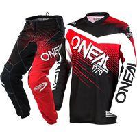 2018 NOWY Oneal MX Element Black Red Jersey Pant Dirt Bike Kolarstwo Wyścigi Motocross Koszulki Zestaw