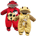 Cotton-padded Baby's Romper Ladybug and Cows Boy/ Girl Jumpsuit Winter Infant Clothing Overalls for children CL0433