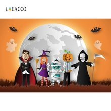 цены на Laeacco Pumpkin Lantern Funny Photography Backgrounds Customized Happy Halloween Day Photographic Backdrops for Photo Studio в интернет-магазинах