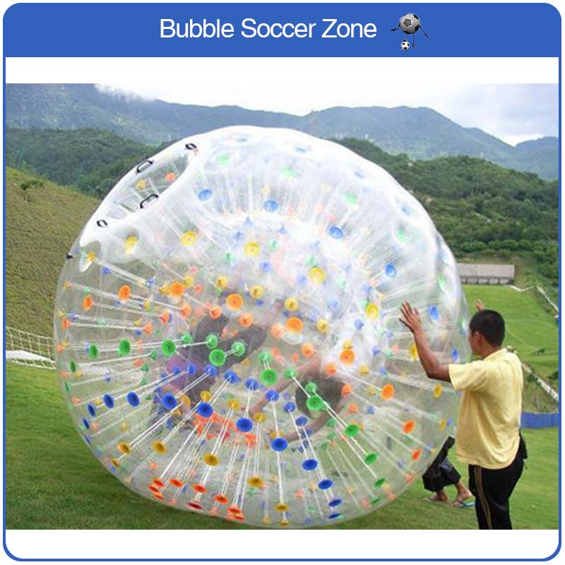 Free Shipping 2.5m Inflatable Grass Ball Zorb Ball Giant Body Zorb Ball Inflatable Human Zorb Balloon Zorb Water Ball 2018 inflatable air water walking ball water rolling ball water balloon zorb ball inflatable human hamster dance plastic ball