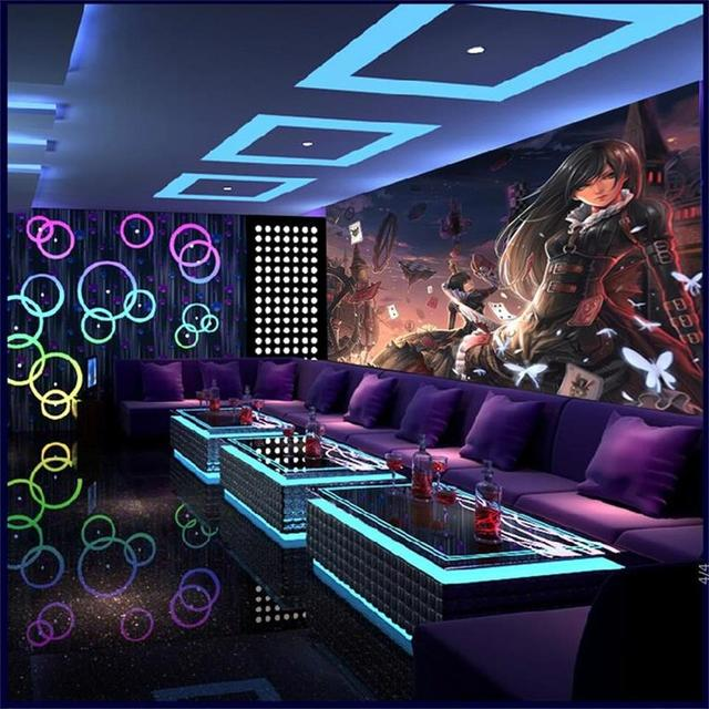 photo wallpaper custom size living room 3d mural internet bar alice game painting TV background non-woven wallpaper for wall 3d