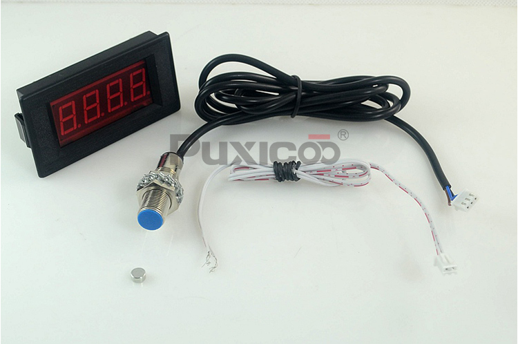 ФОТО Punch tachometer magnetic control tachometer measurement speed digital Hall switch tachometer strong magnetic switch