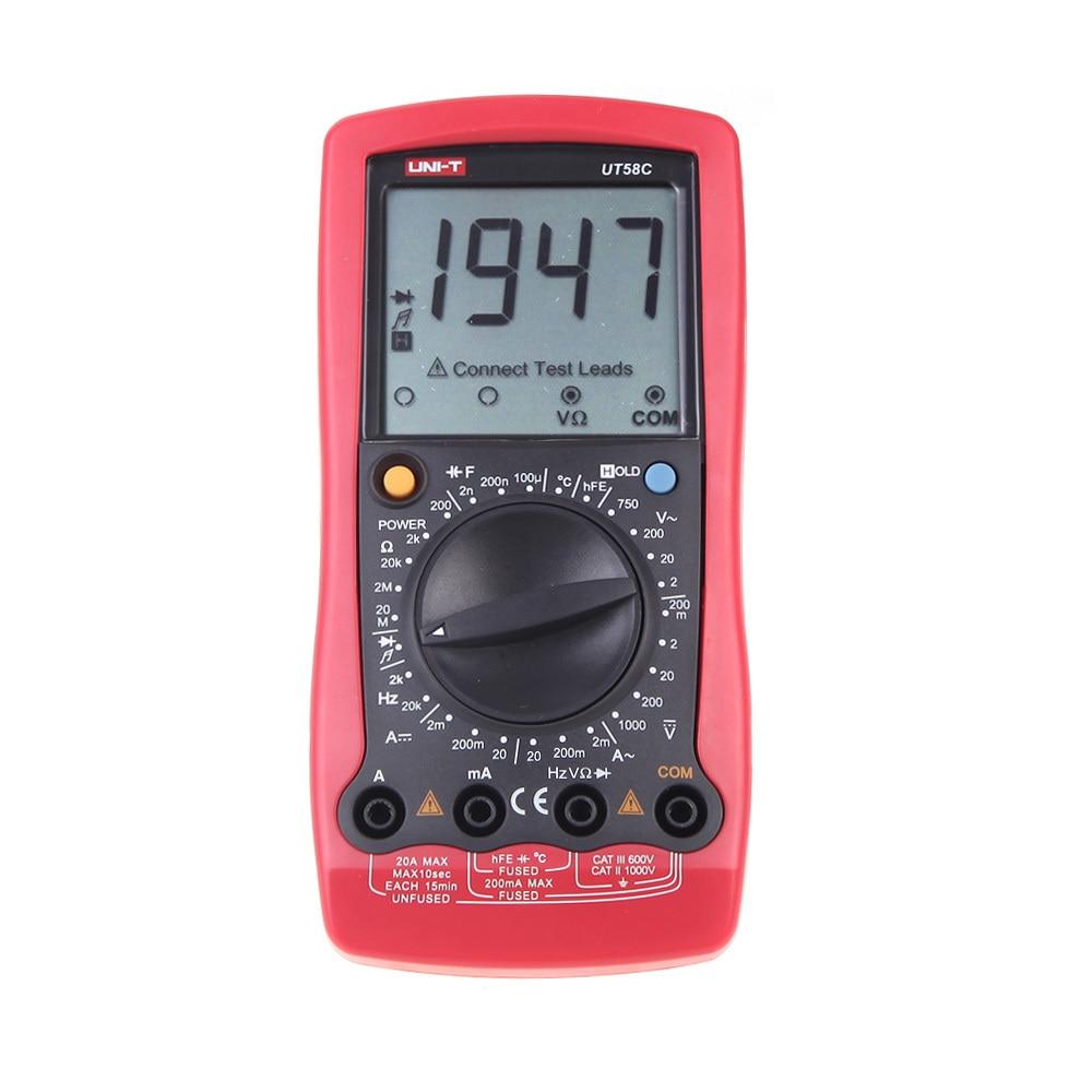 UNI-T UT58C LCD Display Professional General Tester Ammeter Multitester Multimetro LCR Meter Digital Multimeters  цены