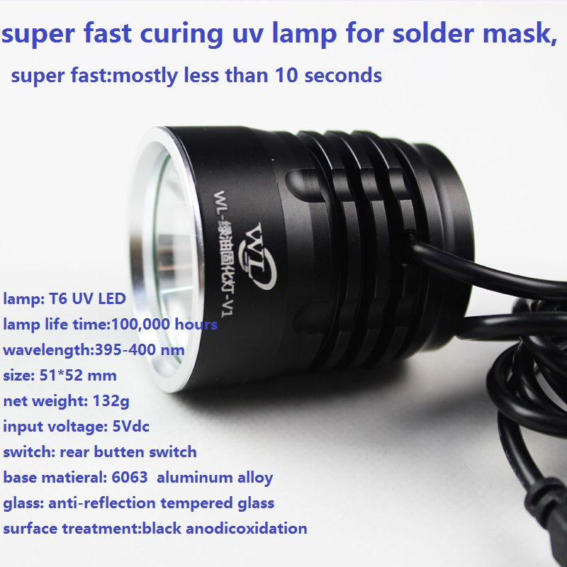 Super Fast Curing Uv Lamp For Solder Mask, Uv Light ,repair A10 A9 A8 A7 Baseband Cpu Nand Chips Short,icloud Fixing