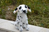 simulation spotted dog about 45cm squatting Dalmatian plush toy, birthday gift 0172
