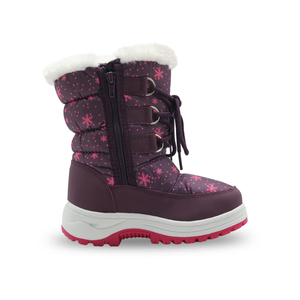 Image 4 - Apakowa Winter Girls Mid Calf Plush Snow Boots Little Princess Outdoor Durable Boots with Zipper Toddler Kids Anti slip Shoes