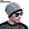 [Dexing]Brand Beanies Knit Men's Winter Caps Skullies Bonnet Winter Hats For Men Women Beanie Fur Warm Baggy Wool Knitted Hat