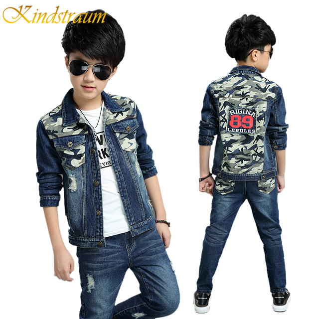 Kindstraum Boys Clothing Sets for Kids Chidren 2PCS Denim Jacket + Jeans Boys Denim Suits Fashion Brand Style Long Sleeve, MC389