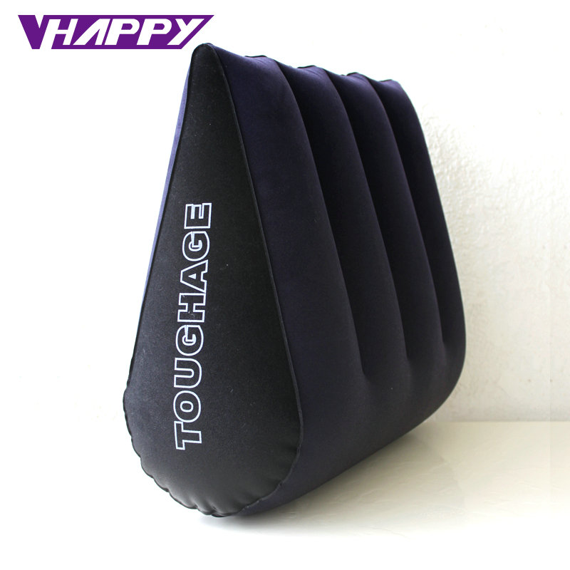 TOUGHAGE Sex Pillow Inflatable Sex Furniture Triangle Magic Wedge Pillow Cushion Erotic Products Adult Game Sex Toys for Couples toughage inflatable sex furniture triangle sex pillow erotic wedge sex cushion oreiller sofa adult games sex toys for couples
