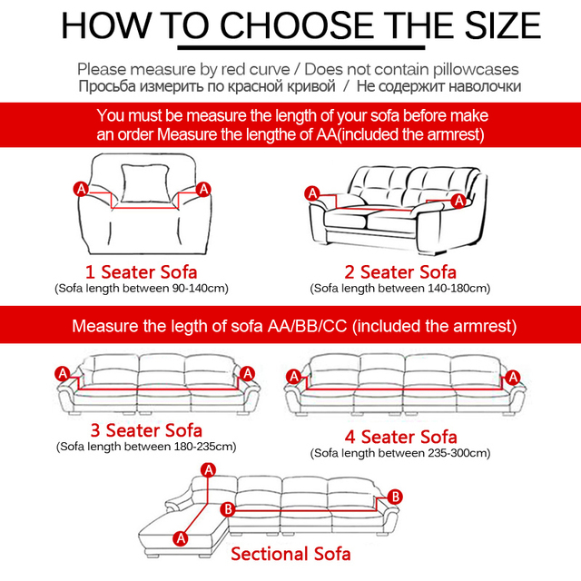 Stretch Slipcovers Sofa Cover For Living Room Slip-resistant Sectional Elastic Couch Cover Sofa Towel Single/Two/Three/Four Seat 1