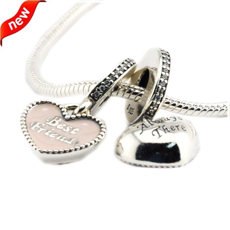 9918a41a369a CKK Bead Best Friends colgante Charm 100% Plata de Ley 925 se adapta a  Pandora Charms pulsera ...