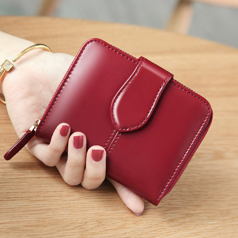 Fashion Women Wallet Woman Short Card Holder Genuine Leather Female Coin Purse Vintage Cowhide Wallet Women Luxury Small Wallet