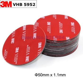 Cinta de espuma acrílica adhesiva de doble cara, 50mm x 1,1mm, redonda, 3M, VHB 5952, color negro, Envío Gratis