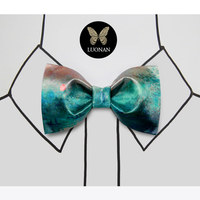 Bow Tie Male Ink Green Monet Oil Painting Printed Bowknot Fashion Gift Box