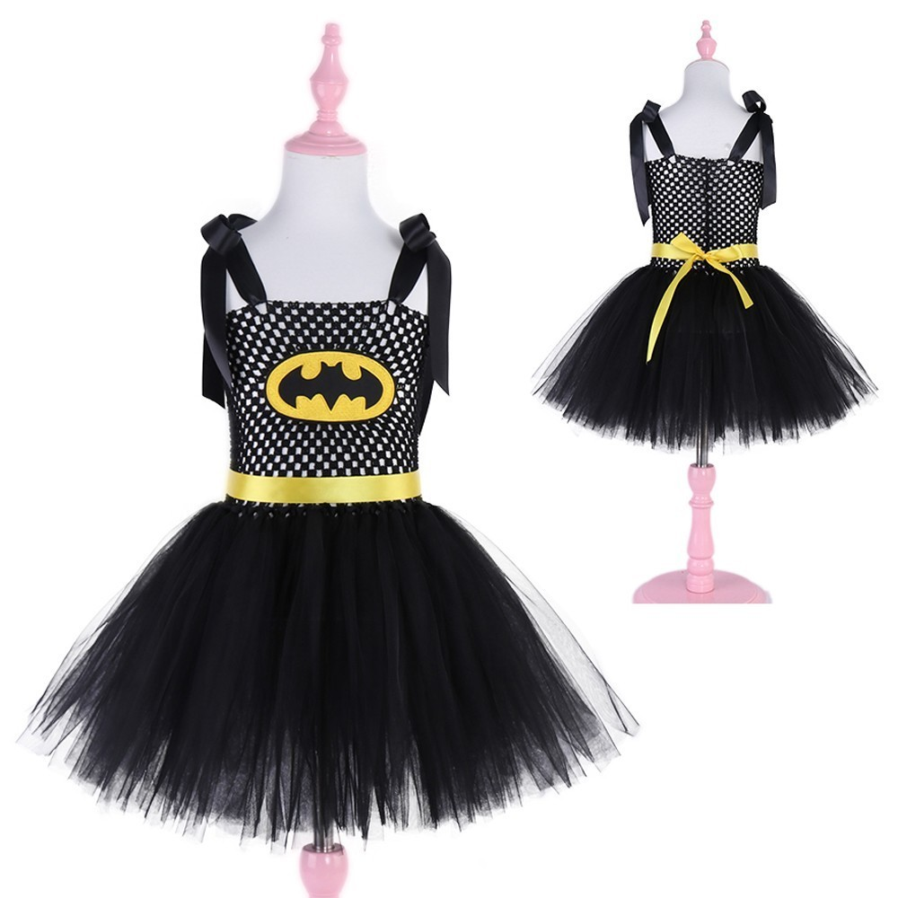 Superhero Kids Halloween Christmas Costume Tutu Dress Children Party - Children's Clothing - Photo 1