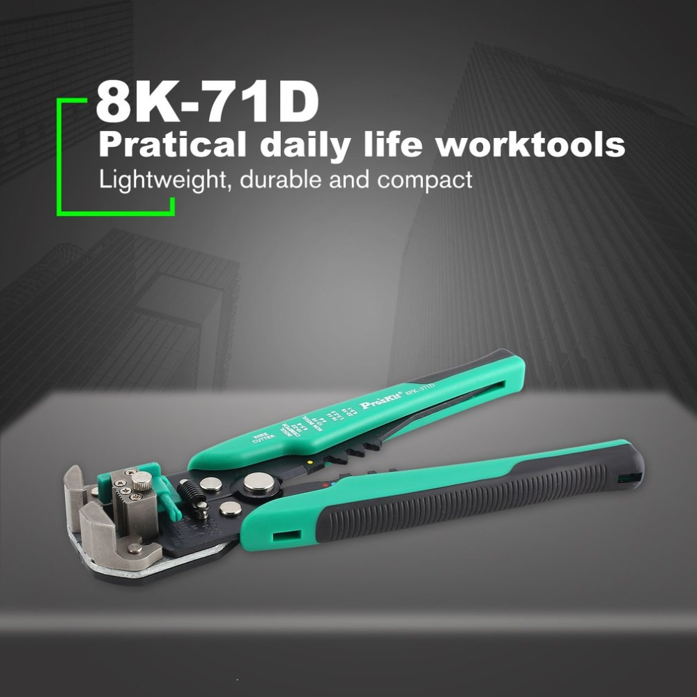 Proskit 8PK-371D Wire Stripping Pliers Multi-functional Automatic Stripping Crimping Tools Cable stripper 5 pcs loz diamond blocks mini mickey minnie mouse donald duck daisy goofy animal figure toys educational building blocks