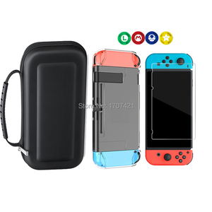 Image 3 - 8 in 1 for Nintend Switch Carrying Storage Bag Tempered Glass Screen Protector for Nintendoswitch Hard Shell Case for NS Switch