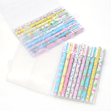 10 pcs / Set gel pen unicorn caneta Starry sky lapices Kawaii boligrafo kalem material escolar papelaria 12 pcs set gel pen white boligrafo set color papelaria kawaii caneta cute stationery pens for school kalem