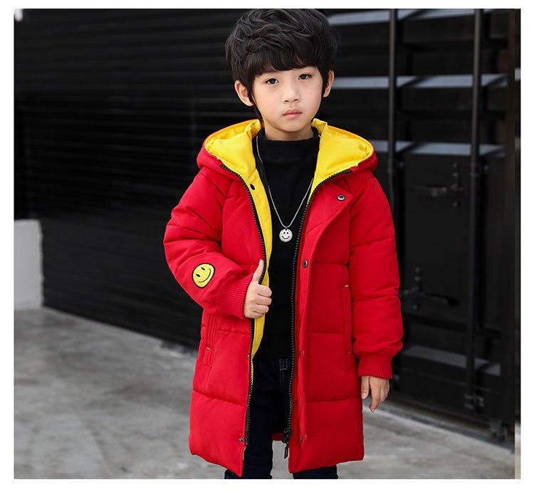 2018 Winter Girls Warm Jacket Kids Long Style Hooded Coat Children Plus Velvet Cotton Jacket Girl Thick Cotton Padded Outwear (14)