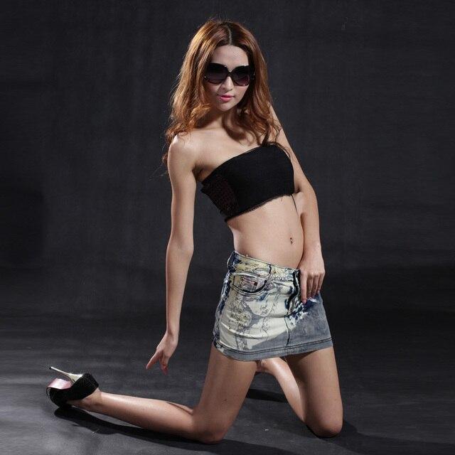 Fashion denim short skirt sexy diamond skirt female slim hip skirt s38