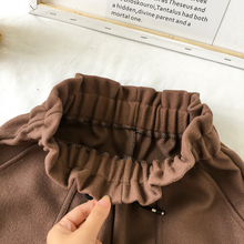 New Women Shorts Autumn and Winter High Waist Shorts Solid Casual Loose Thick Warm Elastic Waist Straight Booty Shorts Pockets