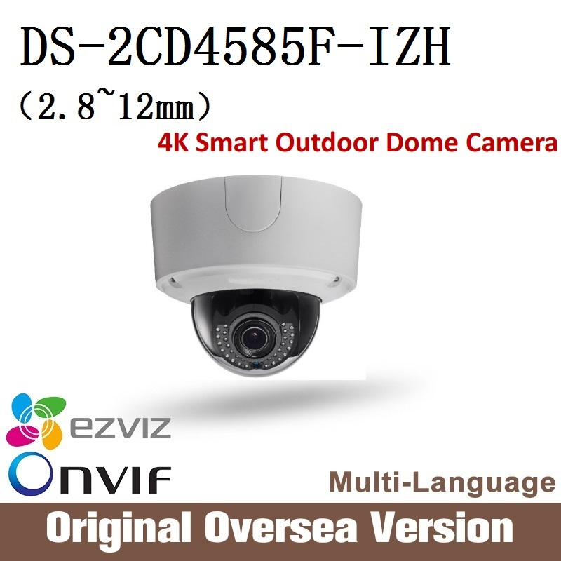 Hikvision  DS-2CD4585FWD-IZH 2.8-12mm Ip 8MP dome Camera 4K Smart Outdoor Dome Camera Onvif RJ45 upgrade support English Version сетевая ip камера hikvision ds 2de2204iw de3 2 8 12 мм