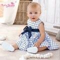 TUTU DRESS Brand Baby Girl Dresses Plaid Princess Dress Children's Clothing Girls Summer Classical Sleeveless Dress