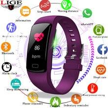 цена на LIGE New fitness Bracelet Ip67 Waterproof Smart watch Intelligent Activity Tracking Sport Smart Wristband Heart rate Monitor
