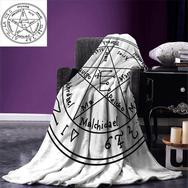 US $19 75 48% OFF|Occult Blanket Minimalist Ancient Magic Symbol with Dated  Shape and Motif Old in New Art Print Warm Blankets for Beds-in Blankets