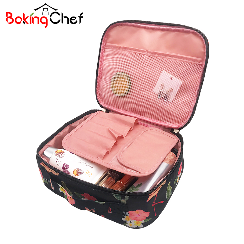 BAKINGCHEF Womens Travel Cosmetic Storage Organization Beauty Make up Toiletry Wash Pouch Accessories Supplies Products Case