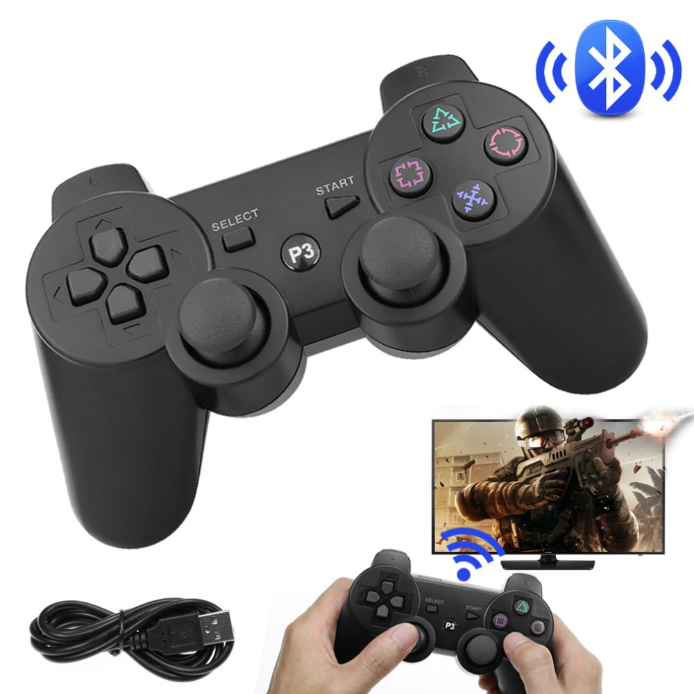 For Sony playstation 3 PS3 Wireless <font><b>Bluetooth</b></font> Game <font><b>Controller</b></font> for PS3 <font><b>Joystick</b></font> <font><b>Remote</b></font> <font><b>Gamepad</b></font> for Sony PS3 Game <font><b>Controller</b></font> image