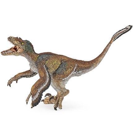 2017 Nuevo Papo emplumada dinosaurio Velociraptor simulado modelo ...