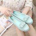 Прохладный весной и летом 2016 Корейских женщин скольжения на обувь Asaguchi белая леди офис обуви милый белый скольжения на обувь zapatos mujer