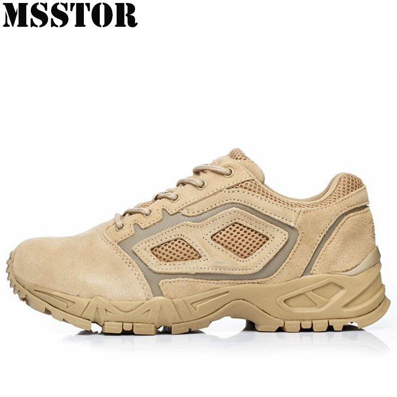 MSSTOR 2018 Men Hiking Shoes Brand Hunting Trekking Tactical Boots Genuine Leather Sport Shoes Outdoor Athletic Camping Sneakers military men s outdoor cow suede leather tactical hiking shoes boots men army camping sports shoes