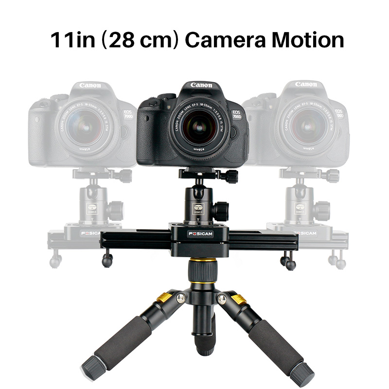 Max Load 5KG 28cm Mini Portable Slider System Camera Video Track Dolly Slider Rail System for DSLR Camera Nikon Canon Smartphone ulanzi 40cm 15in mini aluminum camera video track dolly slider rail system for nikon canon dslr camera dv movie vlogging gear