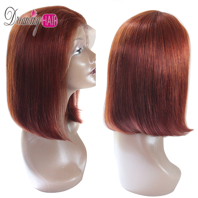 HTB13eeLbkY2gK0jSZFgq6A5OFXaU 13x6 Blue Bob Lace Front Human Hair Wigs Pre Plucked 613 Honey Blonde Purple Green Burgundy Yellow Ombre Colored Human Hair Wigs
