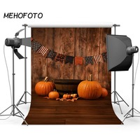 Halloween Photography Backdrop Autumn Pumpkin Flag Newborn Baby Wooden Photo Studio Background Halloween Backdrops