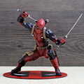 ARTFX + X-men X-MEN Deadpool Figura Wade Wilson Arma X CIVIL GUERRA Iron Man Wolverine PVC Action Figure Gift Collection Modelo Toy