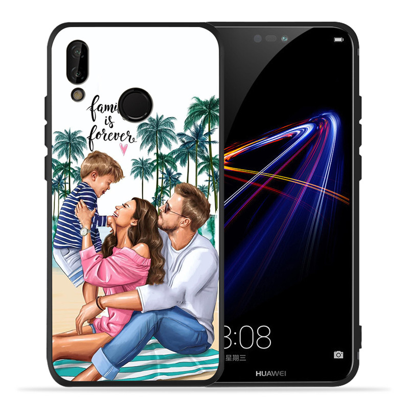 Image 3 - Luxury Baby Mom Queen For Huawei P8 P10 P20 P30 Mate 10 20 V20 Honor 8 8X 8C 9 10 Lite Plus Pro Case Cover Coque Etui Funda Cute-in Half-wrapped Cases from Cellphones & Telecommunications