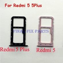 Taca karty Sim dla Xiaomi Redmi 5 5 Plus uwaga 5 globalna karta Sim SD Adapter karty Sim uchwyt gniazda karty Sim części zamienne tanie tanio HXEBGT For Xiaomi Other 5146