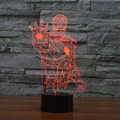 7 color Holiday Atmosphere Decorative Kids gift Iron Man Style 3D Ilusion LED Night Light