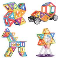 Mylitdear 48/50/62pcs Magnetic Blocks Building Tiles Toys Set Children Creativity Educational Magnet Construction Present Toy