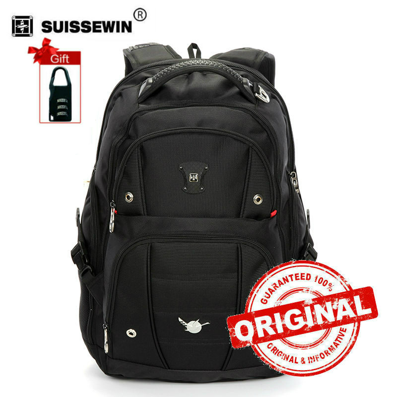 Swiss Men Backpack Gear Quality 15,6 Laptop Backpack sac a dos Large Capacity Waterproof Bagpack Black mochila masculina SN9808 2016 new quality waterproof oxford swissgear backpack men 15 inch laptop bag sac a dos men backpacks swiss travel backpack lock