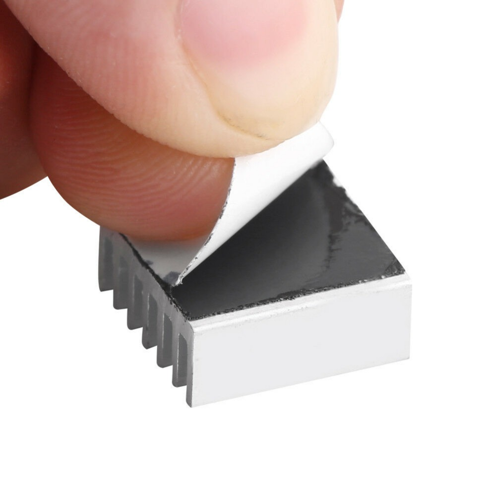 Купить с кэшбэком 50PCS Gdstime 14x14x6MM Aluminum Heat sink  Chip CPU GPU VGA RAM LED IC Heatsink Radiator Cooler