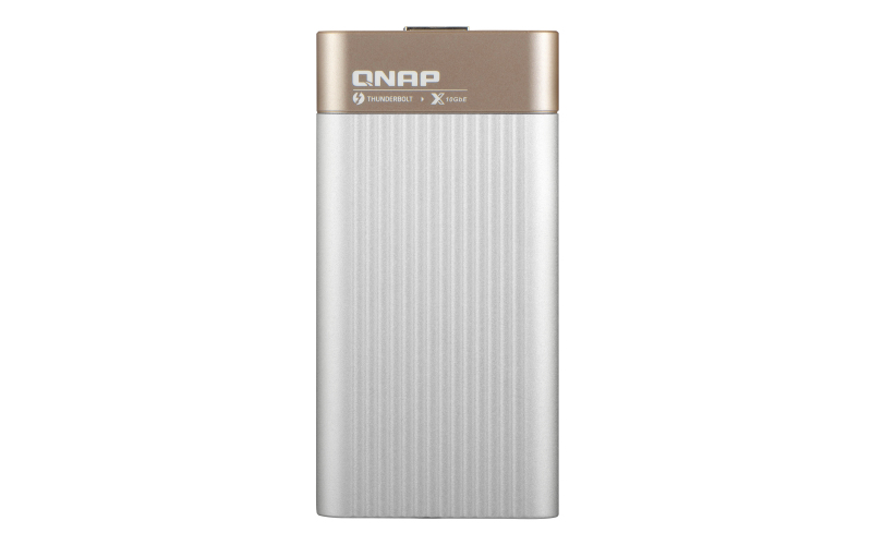QNAP QNA-T310G1S, Thunderbolt 3, SFP +, Or, Gris, 10 Gbit/s, Activité, lien, Puissance, Windows 10 L'éducation x64, Windows 10 Enterpr