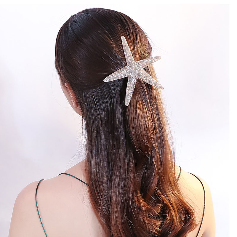 Luxury Alexander Starfish Cellulose Acetate 90s Hair Accessory Jewelry Tiara Barrettes Pins Clip for Women Wedding Dance Party women s hair clip simple scissor shape charming hair accessory
