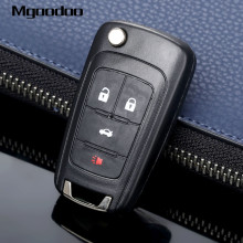 купить Mgoodoo 4 Button Flip Folding Remote Key Case Shell Replacement Entry Fob For Buick LaCrosse Regal Verano GMC Terrain Car Covers дешево
