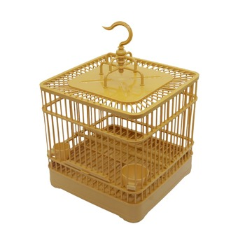 Assembly Bird Cage With Feeder And Waterer Small Pet Bird Full Set Of Plastic Bird House Thrush Parrot Cage 23x23x22cm 4
